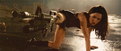 She has a gun for a leg! How can you NOT love that?
