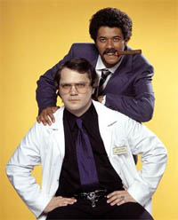 Dean Learner (with cigar) and Garth Marenghi